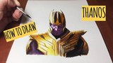 Как нарисовать Таноса   How to draw Thanos from Avengers: Infinity War - Timelapse