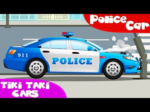 The Police Car helps Cars Emergency Vehicles Cars Trucks cartoons for kids