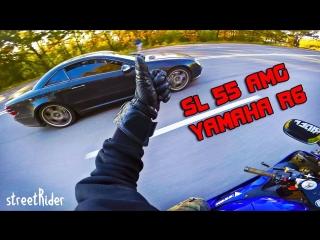 [streetRider] ЧУВАК НА МЕРСЕ ПЫТАЛСЯ | Mercedes-Benz SL55 AMG V8 vs Yamaha R6