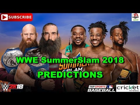 WWE SummerSlam 2018 SmackDown Tag Team Championship Bludgeon Brothers vs New Day WWE 2K18