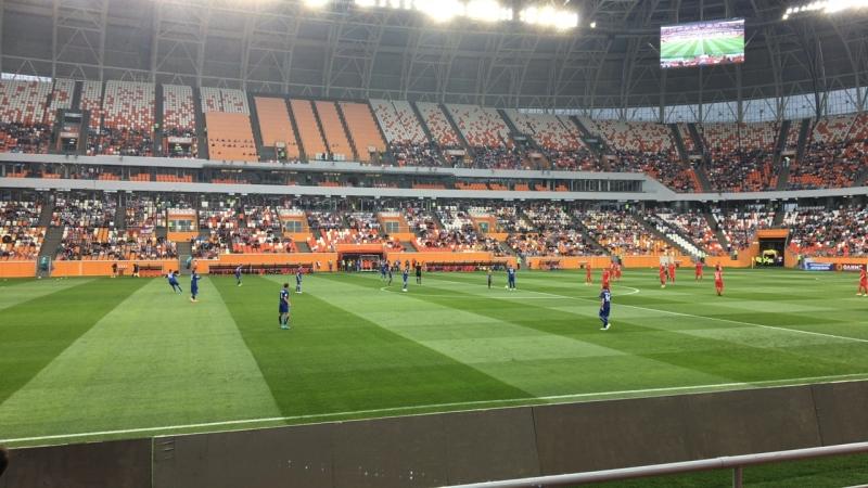 На Мордовия Арене начался матч первого тура первенства ФНЛ