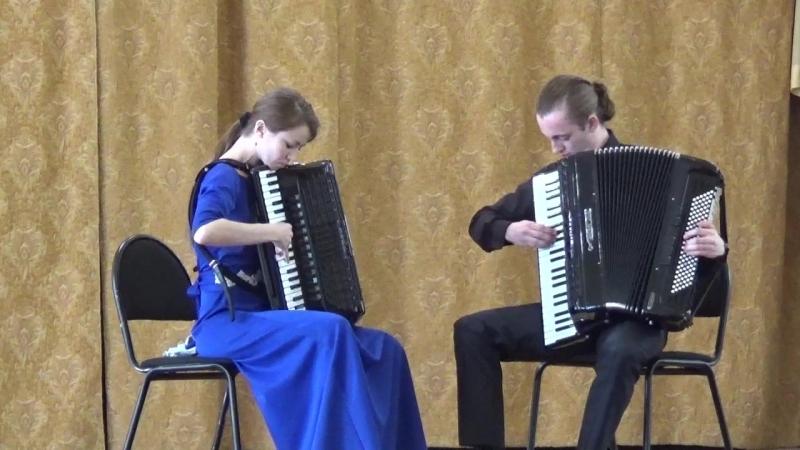 А. Вивальди - И. С. Бах Концерт d-moll (1, 2 часть). Исполняет дуэт аккордеонистов Аллегория в составе Ольга Логинова и Андрей