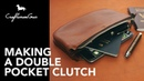 Making Leather Bag Double Pocket Clutch LeatherAddict EP31