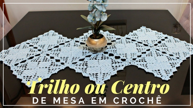 TRILHO/ CAMINHO DE MESA EM CROCHÊ/ DIANE GONÇALVES