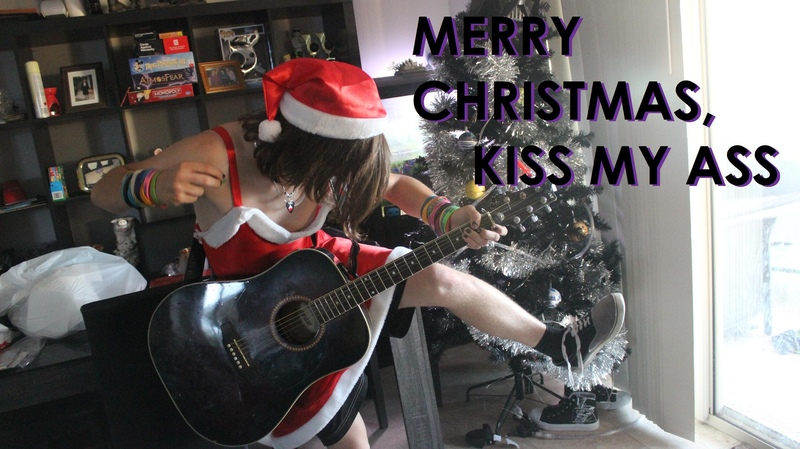 Acoustic cover Merry Christmas Kiss My Ass All Time Low Damon Sparkes