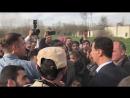 اليوم مع عدد من أهالي الغوطة الشرقية الذين حرّرهم أبطال الجيش العربي السوري من ق