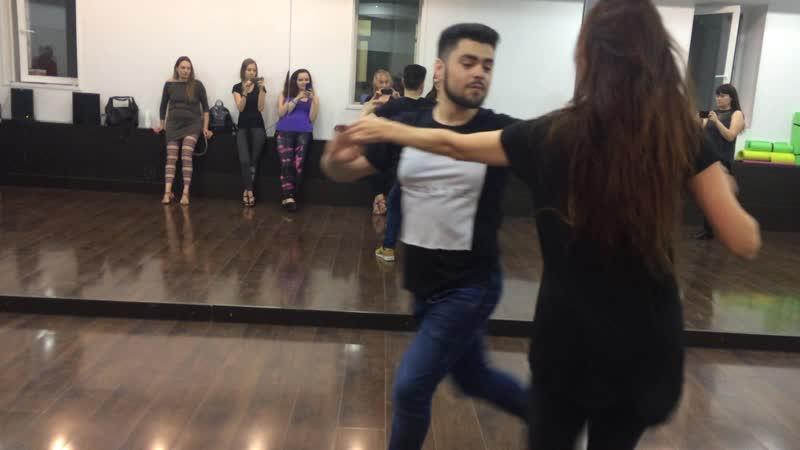 Edson Vieira Brazilian zouk and Anna Vit 18 10 2018