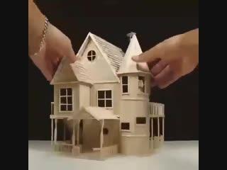 Невероятный домик из палочек от мороженого