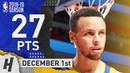 Stephen Curry INJURY RETURN Highlights Warriors vs Pistons 2018 12 01 27 Pts 3 Ast 5 Rebounds