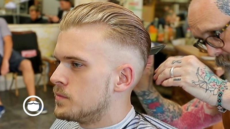 Slicked Back Skin Fade Haircut