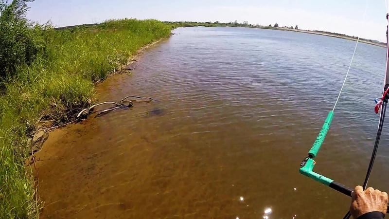 Kiteboarding local swamps June 2018 Кайтбординг в Щетинке июнь 2018