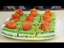Закуска Пирожные с Розочками из Красной Рыбы Рецепты на Праздничный Новогодний Стол