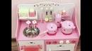 Детская деревянная кухня Розовая клубничка Видео обзор