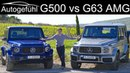 Mercedes G-Class G500 vs G63 AMG FULL REVIEW comparison test GClass G-Klasse 2019 - Autogefühl