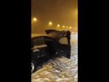 Сильнейший снегопад с метелью на шоссе AP-6, северо-западнее Мадрида, Испания (6-7 января 2018).