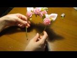 DIY Ободок единорога с розами и жемчугом