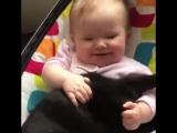 Дети и коты - лучшие друзья