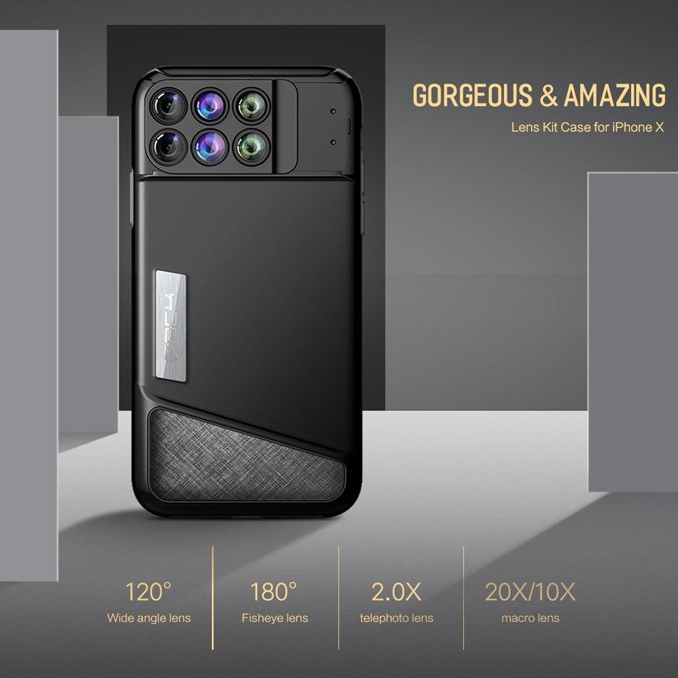 Чехол для IPhone X с разными линзами для камеры