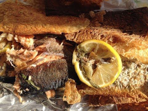 Рыба форель запечённая в лаваше в духовке с тархуном,