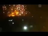 В окрестностях Хамы пылают склады оружия