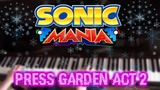 Sonic Mania - Press Garden Act 2 on Piano AqareCover