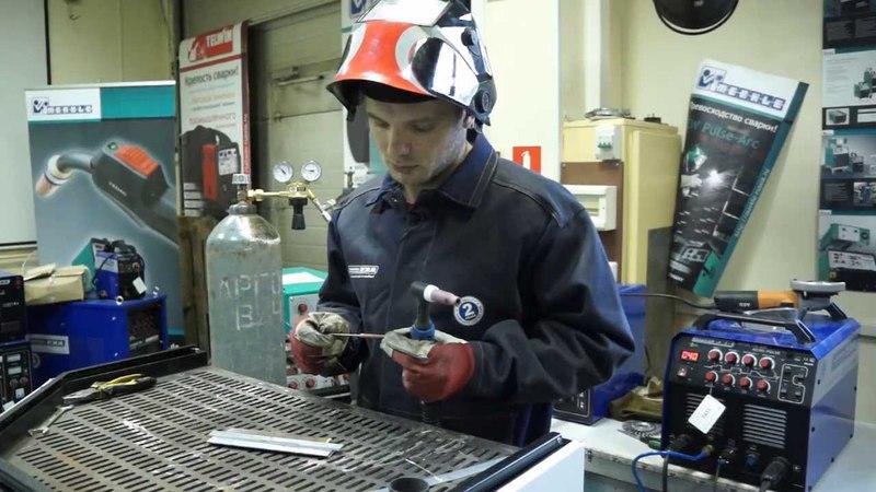 Сварка алюминия в аргоне Настройка аппарата на примере INTERTIG 200 AC DC PULSE cdfhrf d fhujyt yfcnhjqrf fggfhfnf yf
