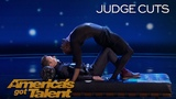 Troy James: Contortionist Terrifies Guest Judge Chris Hardwick - Americas Got Talent 2018