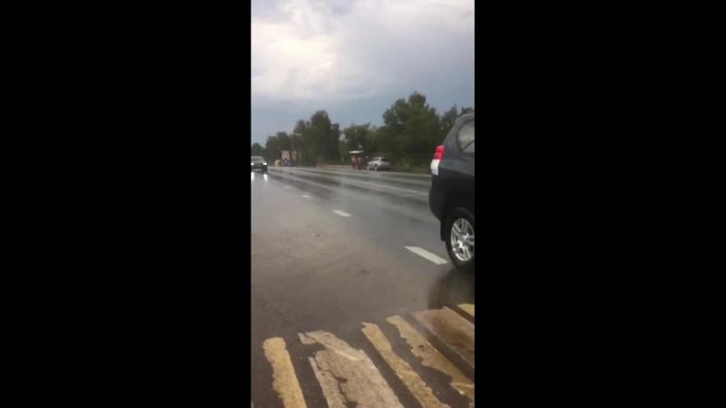 Пешеходов на зебре не пропускают у СНТ Матвеевка