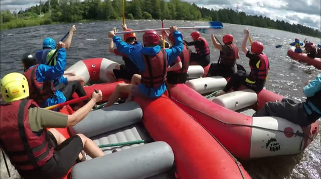 One day of Kiviniemi rafting guide
