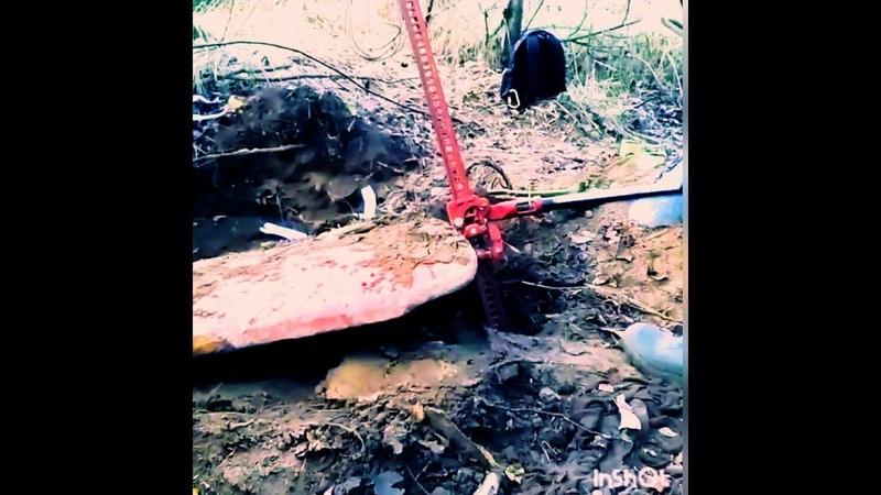 Коп металолома. Нашли в лесу стальную плиту 700кг.