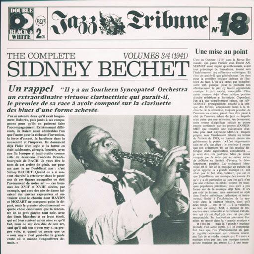 Sidney Bechet альбом The Complete Sidney Bechet Vol. 3/4 (1941) - Jazz Tribune No. 18