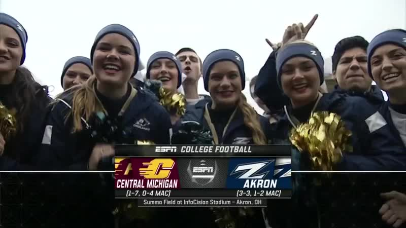 NCAAF 2018 Week 09 Central Michigan Chippewas - Akron Zips 1Н EN
