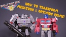 How to Transformer Siege Voyager Class Megatron Optimus Prime