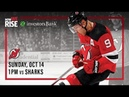 NHL 19 PS4. REGULAR SEASON 2018-2019: San Jose SHARKS VS New Jersey DEVILS. 10.14.2018. (NBCSN) !
