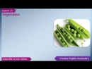 Learn English - English Vocabulary Lesson 15 - Vegetables