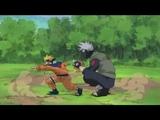 Наруто Саске и Сакура против Какаши ПОЛНЫЙ БОЙ