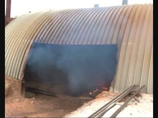 Пионерского костра на лесоперерабатывающем предприятии в близи Абана на новый год не ожидается, на предприятии построили печь д