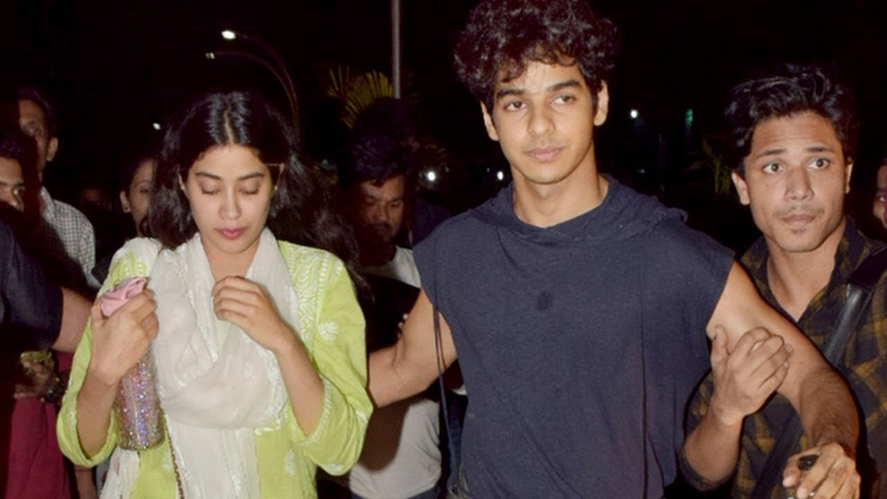 'Dhadak' co-stars Janhvi Kapoor and Ishaan Khatter spotted post movie date