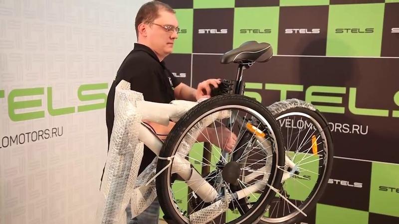 Видео инструкция по сборке и настройке велосипеда на примере Stels Navigator 700 V » Freewka.com - Смотреть онлайн в хорощем качестве