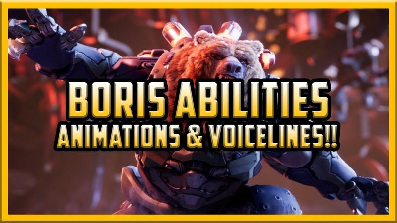 UNRELEASED PARAGON HERO - Boris Animations, Abilities, Voicelines MORE!!