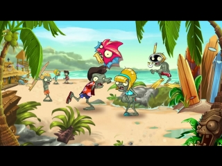 Plants vs. Zombies 2 Big Wave Beach Party Time