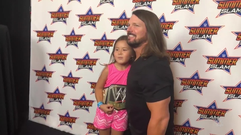 AJ Styles makes every young fan feel special during his SummerSlam Meet Greet SummerSlam Diary