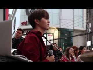 180911 더로즈 신촌 버스킨 하준 직캠 (ONE OK ROCK - Heartache The Rose Cover) Hajoon Fancam
