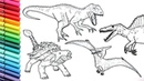 Drawing and Coloring Dinosaurs Big Collection - Jurassic Park Dinosaurs Color Pages for Kids