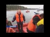 Путин и Берлускони на лодке Фрегат
