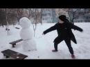Как отп здить снеговика Ахаха Смешны мор Угар Ржач