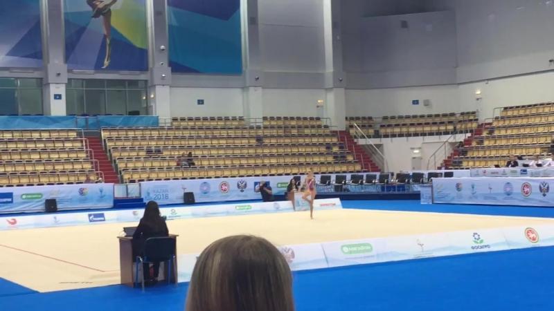 Дарья Трубникова - булавы (многоборье) Международный турнир 2018, Казань