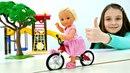 Игры для девочек с куклами Барби. Штеффи заработала на велосипед!