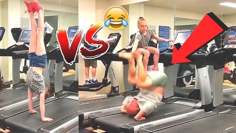 DAUGHTER vs DAD Gymnastics Challenge |Funny Fails|