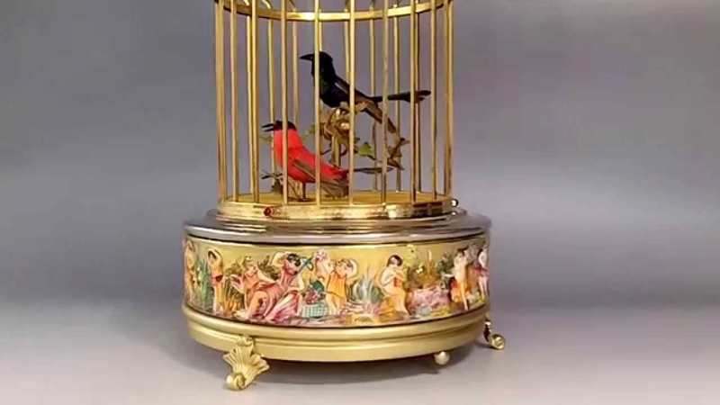 Capodimonte Singing Bird Cage Automaton